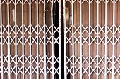 Old Iron Steel Close Up. Full Frame. Steel Doors Used Widely In Thailand Before. Steel Door Can Be S poster