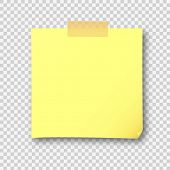 Empty Yellow Post Note Paper Sheet Sticker. Vector Post Office Memo Or Remember Yellow Notepaper Sti poster