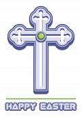 Cross Is A Symbol Of Christianity And Easter Greetings. Orthodox Cross. Christianity Religion Symbol poster
