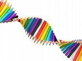 Dna Molecule Of Pencils