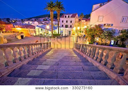 poster of Korcula Town Gate Stone Steps And Historic Architecture Evening View, Historic Tourist Destination I