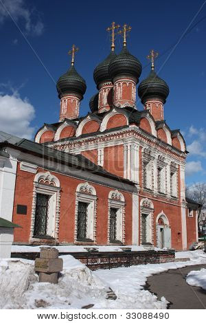 poster of Moscow. Highly Petrovsky Monastery. The temple in honor of Our Lady Mother Bogoliubsk.