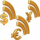 Money Rss Icon Set