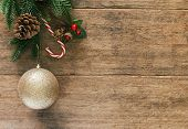 Holiday Christmas And New Year Copy Space Plank Wallpaper. Christmas Card Background With Festive De poster