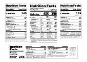 Nutrition Facts Label. Vector. Food Information With Daily Value. Package Template. Data Table Ingre poster