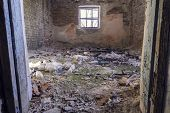 Old Brick Room. Room With A Window. Abandoned Room. Scary Room. poster