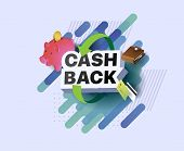 Emblem Cash Back. Return On Investment. Return Of Money. Money Refund Badge. Money Back Reward For F poster