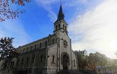 The Notre-dame-de-la-gare Church In Paris, France. It Located In 13th District Of Paris. poster
