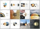 Minimal Brochure Templates With Yellow Color Circles, Round Shapes. Covers Design Templates For Squa poster