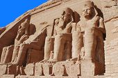 stock photo of ramses  - Abu Simbel Temple of King Ramses II - JPG