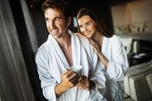 Couple Enjoying Wellness Weekend And Spa In Hotel poster