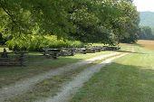 picture of split rail fence  - A old colonial era split rail fence  - JPG