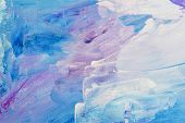 Abstract Art Background Hand Drawn Acrylic Painting. Brushstrokes Colorful Texture Acrylic Paint On  poster