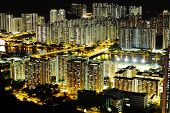 image of hong kong bridge  - Hong Kong crowded urban - JPG
