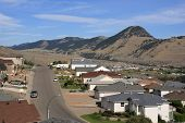 Kamloops, Canada. Sleepy Suburban Residential District Townscape. poster