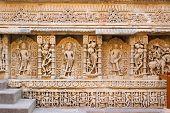 The Hindu Wall Sculptures From Rani Ki Vav Stepwell In Gujarat Of India poster