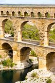 The Pont Du Gard Is An Ancient Roman Aqueduct In Southern France poster