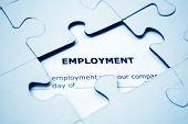 Beschäftigung-puzzle