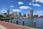 Skyline cidade de Baltimore Maryland Inner Harbor