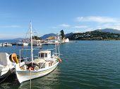 Greece Fishing Boats At Kanoni, Corfu,Greece.