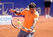 BARCELONA - APRIL, 26: Spanish tennis player Rafael Nadal in action during his match against Robert