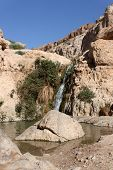 waterfall at ein gedi israel