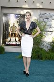 LOS ANGELES, CA - JULY 06:  Leslie Bibb at the premiere of 'The Zookeeper' at the Regency Village Th