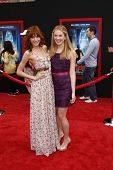 LOS ANGELES - MARCH 6: Caroline Sunshine and Bella Thorne at the World Premiere of 'Mars Needs Moms'