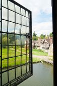 picture of hever  - Window view from the castle of Hever - JPG