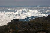 Disco Bay Seen From Above Flight From Kangerlussuaq To Ilulissat