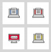 News Feed Icon. Isolated News Feed Icon Vector Illustration From General Collection. Editable Sing S poster