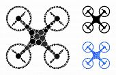 Air Copter Composition Of Small Circles In Different Sizes And Shades, Based On Air Copter Icon. Vec poster