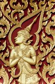 Gloden Deva Carving Handcraft On Wood