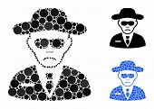 Security Agent Composition Of Small Circles In Different Sizes And Shades, Based On Security Agent I poster