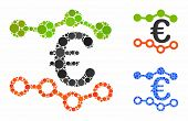 Trends Composition Of Small Circles In Different Sizes And Shades, Based On Trends Icon. Vector Rand poster