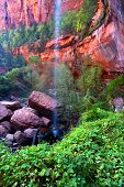 Lower Emerald Pool Waterfall Utah