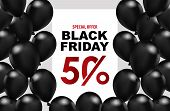 Black Friday Sale Banner. Black Friday Sale Banner Vector Design Template For Website, Ad. Realistic poster