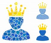 King Admin Composition Of Inequal Elements In Different Sizes And Shades, Based On King Admin Icon.  poster