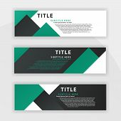 Sixth Banner Set Is Color Dark Green, Suitable For Professional Companies. Designed To Be Online Lik poster