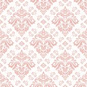 Classic Seamless Vector Light Pink Pattern. Damask Orient Ornament. Classic Vintage Background. Orie poster