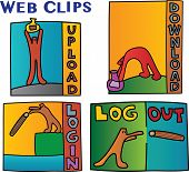 WEBCLIPS -  signs and symbols -off line, online, connect