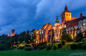 Sightseeing Of Poland. Cityscape Of Grudziadz, Beautiful Night View. Beautiful Architecture Of Grudz poster