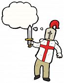 pic of arthurian  - cartoon saint george knight - JPG