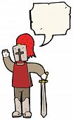 stock photo of arthurian  - cartoon arthurian knight - JPG