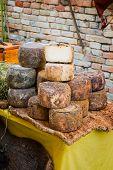 A Heap Of Traditional Italian Pecorino Cheese