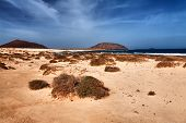 Landscape of La Grasiosa - Canary island