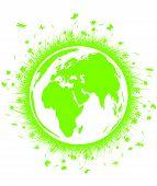 Green globe con hierba