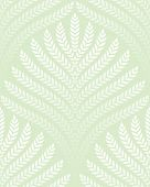 classic foliage seamless pattern in white and light green