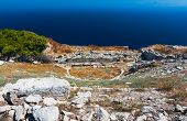 Ancient Theater In Thira, Santorini