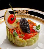 Caviar And Salmon Salad